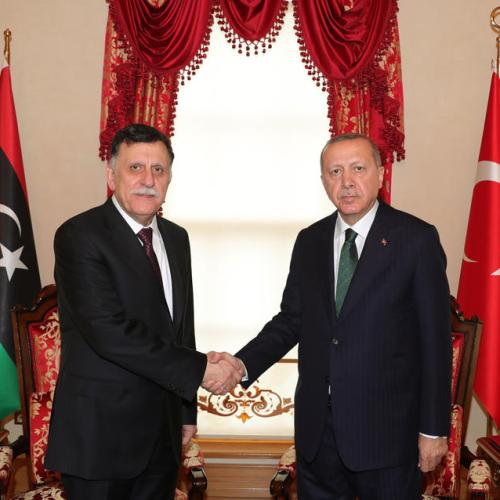 Erdogan meets head of UN-recognized Libyan government