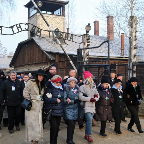 Wreath laying ceremony on the 75th anniversary of the liberation Auschwitz-Birkenau