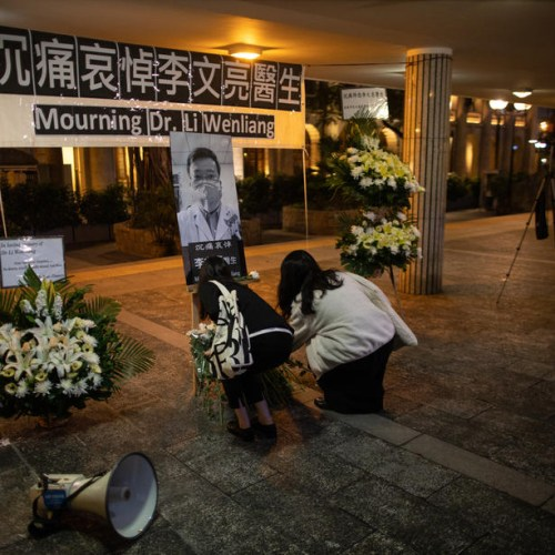 Mourning ceremony in Hong Kong for Chinese whistleblower doctor Li Wenlian
