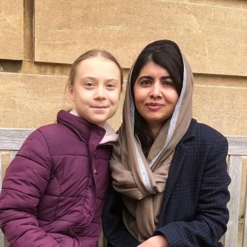 Greta Thunberg meets Malala at Oxford University
