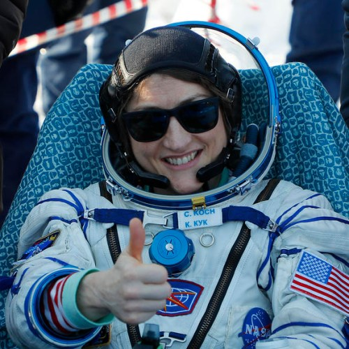 US astronaut ends longest spaceflight by a woman