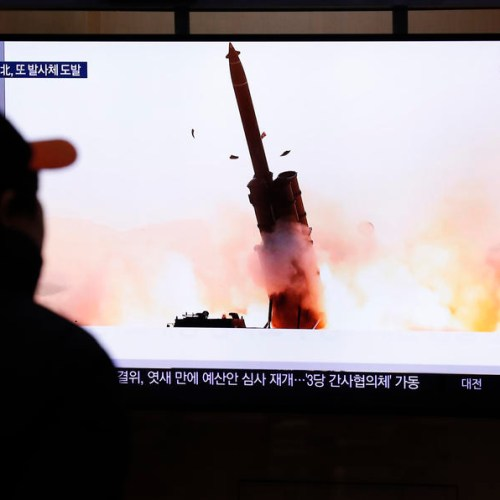 North Korea fires two projectiles off east coast into sea