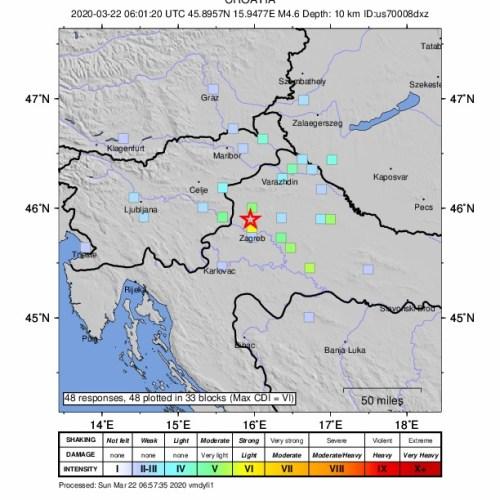 UPDATED: Magnitude 5.3 earthquake rocks Croatia, 15-year-old killed