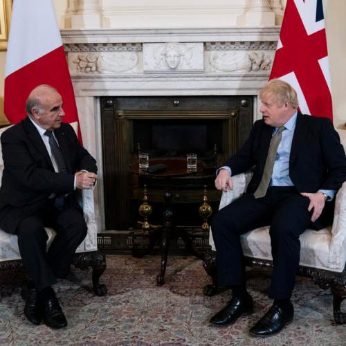 Malta's President Vella meets British PM Johnson