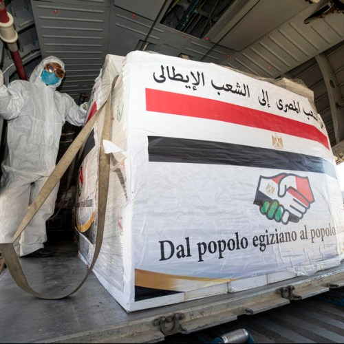 Photo Story: Egypt's helping hand to Italy