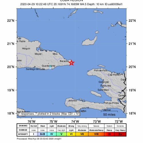 Strong earthquake rattles Cuba