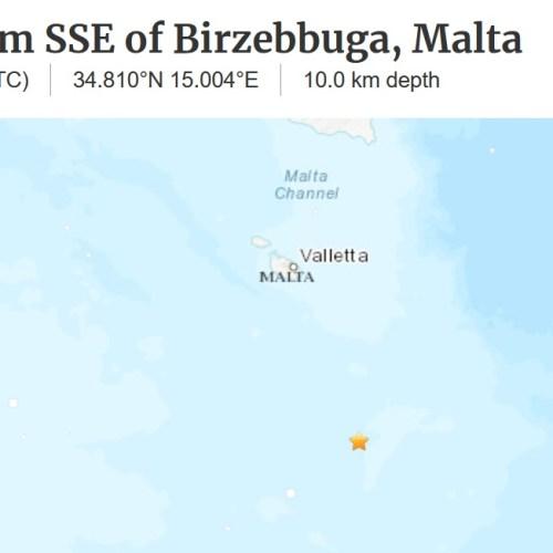 4.1 earthquake off the coast of Malta