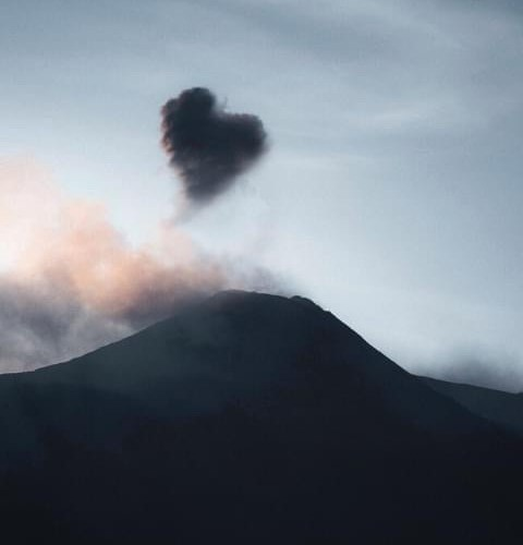 The heart that rose from the ashes over Mt Etna