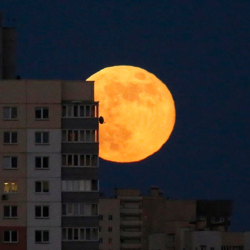 Photo Story: Last of the Supermoons in Minsk