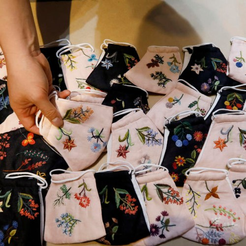 Photo Story: Hand embroidered face masks in Hanoi