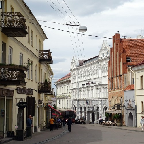 Vibrant Old Town Cafes in Lithuania allowed to expand Seating Into Streets and Plazas as lockdown measures ease off