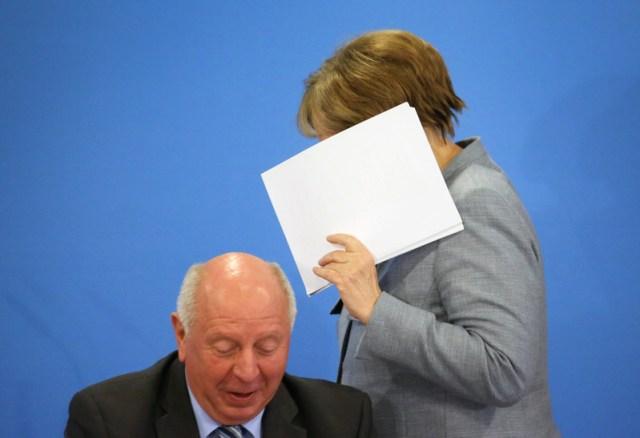 Angela Merkel speaks at CDU party convention