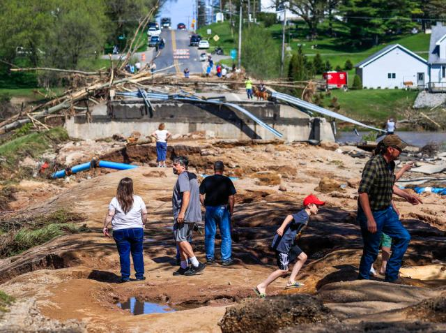 Damage from Edenville Dam collapse