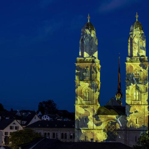Photo Story: The Zurich Grossmunster illuminated