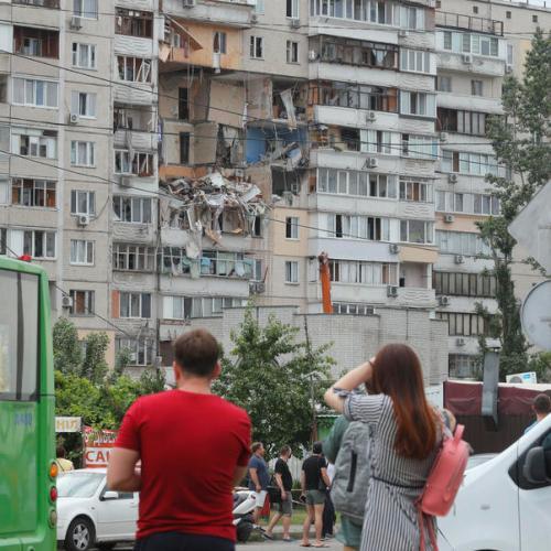 Photo Story: Fatal gas blast rattles Kiev