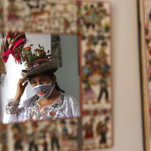 Photo Story: Andean and Amazonian masks save Peruvian artisans from coronavirus crisis