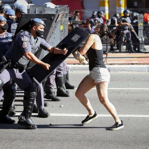 Photo Story: Violent protests in Brazil
