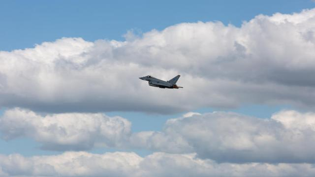 RAF typhoons scrambled in Lithuania to intercept Russian aircraft