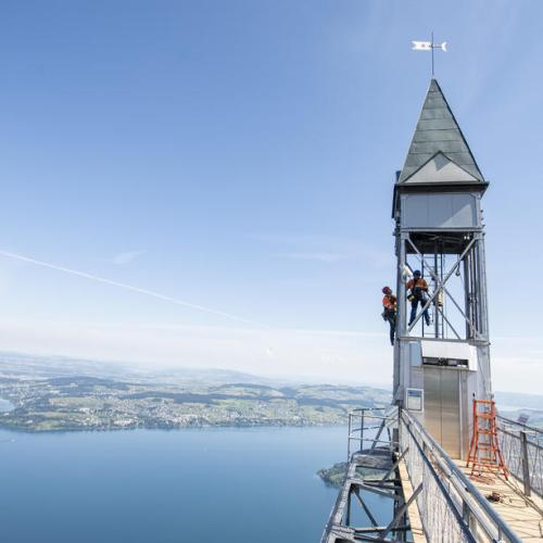 Photo Story: Renovation works in Switzerland on the Hammetschwand Elevator