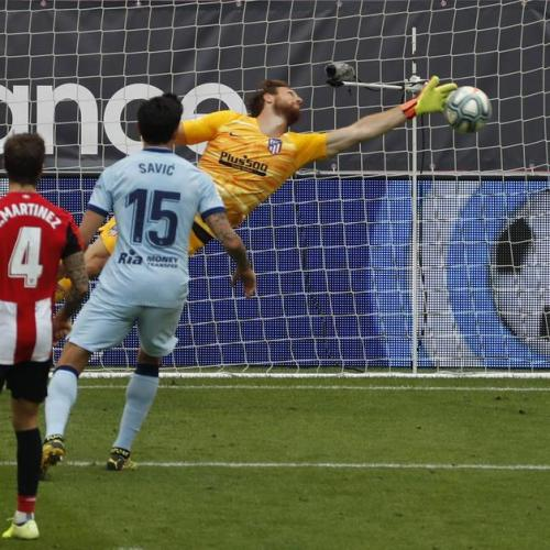 Atletico Madrid and Athletic Bilbao end their match in 1-1 draw