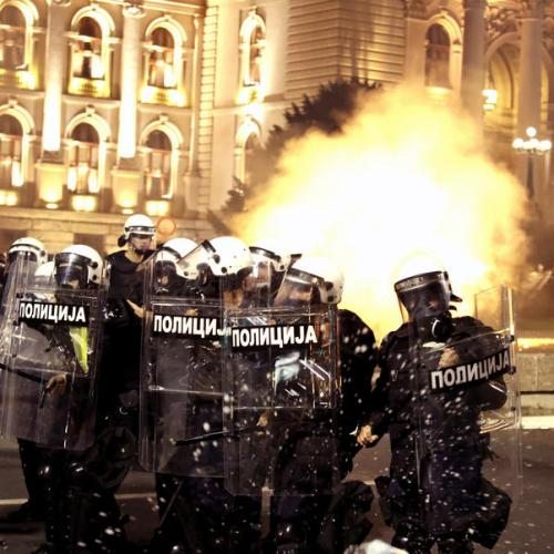 Protests continue in Serbian capital