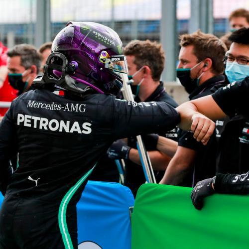 Lewis Hamilton takes 90th career pole position