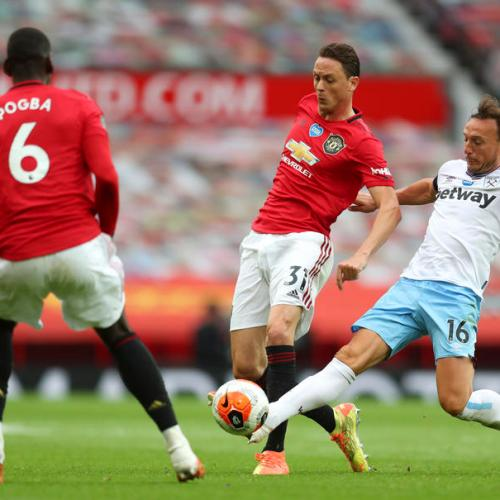 United held by West Ham to set up tense finale with Leicester