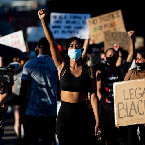Photo Story: Black Lives Matter and Anti Fascist demonstrators clash with police in Los Angeles