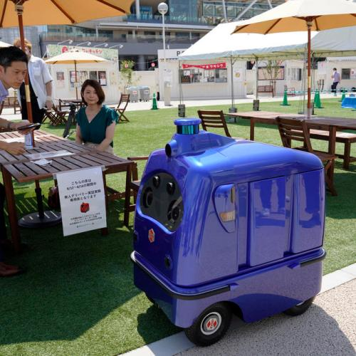 Japan introduces food delivery robot to promote social distancing