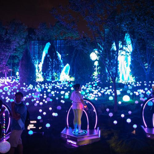 Photo Story: Beijing International Light Festival amid coronavirus pandemic