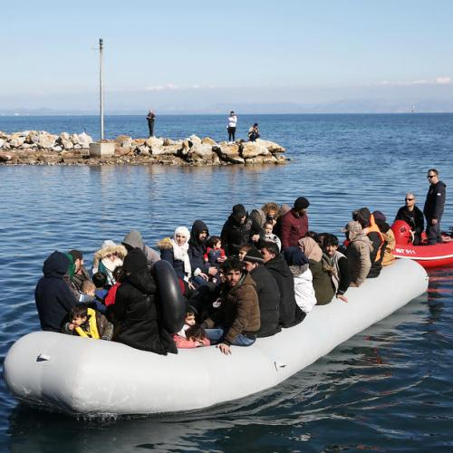 Dozens of migrants rescued off Greek island