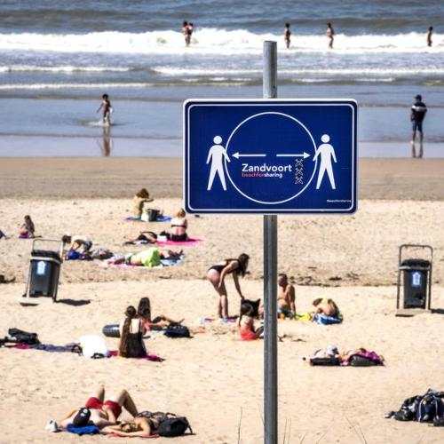 Photo Story: Social distancing on the Dutch beaches