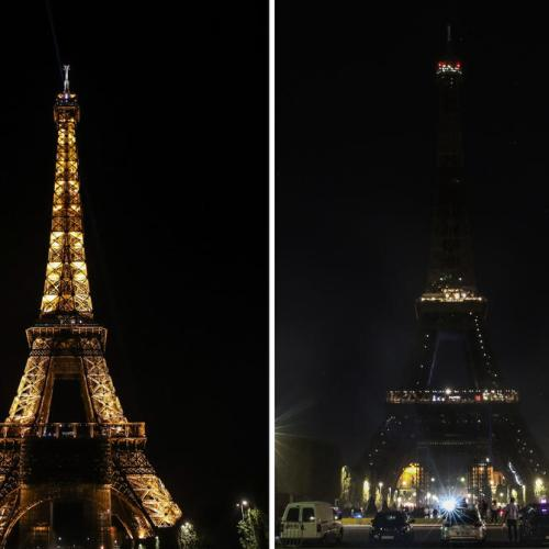 Photo Story: Eiffel Tower goes dark in support for victims of explosion in Beirut