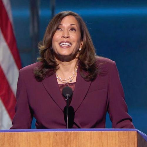 Kamala Harris makes U.S. history, accepts Democrats' vice presidential nod