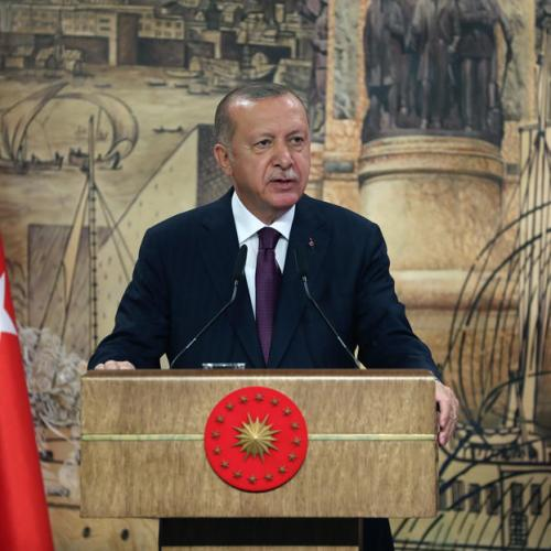 Erdogan says Turkey to get rights in seas around it