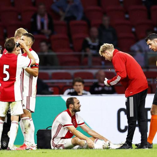Ajax player feeling fine after collapse during match