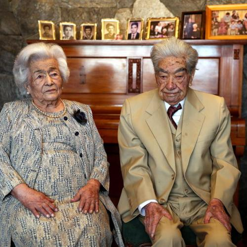 Photo Story: Ecuadorian elderly couple, who total 214 years, enter the Guinness record