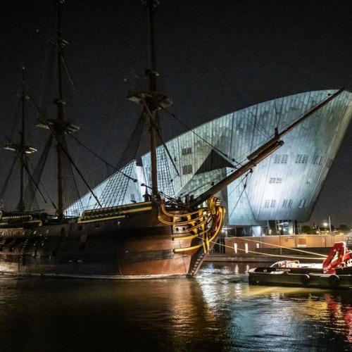 Photo Story: VOC ship Amsterdam leaves for overhaul