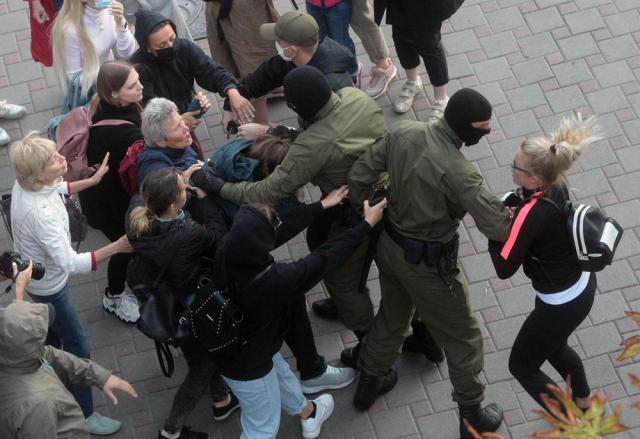 U.N. human rights chief says reports of Belarus violence are alarming