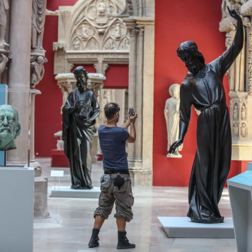 Photo Story: Three statues from Notre-Dame on display in Paris