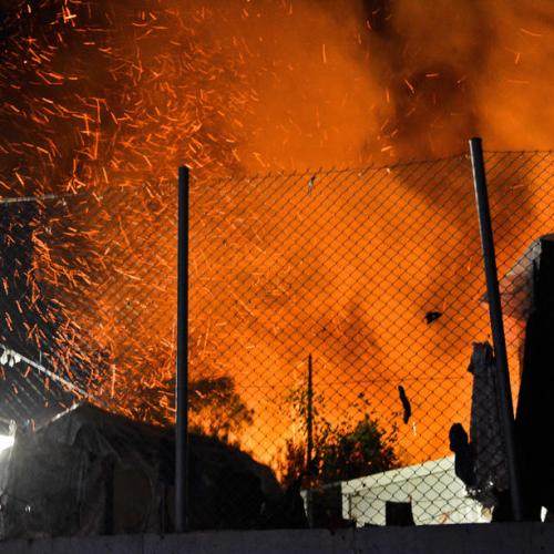 Fire near Greece's Samos migrant camp under control, three detained