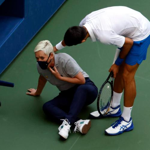 Djokovic disqualified from US Open for hitting lineswoman in throat with ball