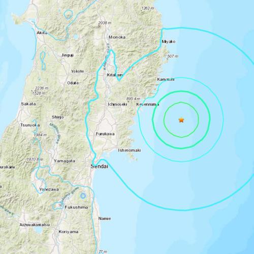 Magnitude 6.1 earthquake near Japan's coastline