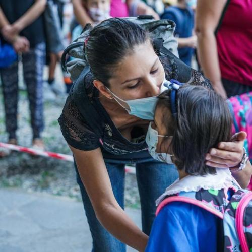In pictures – Italy's first day back to school