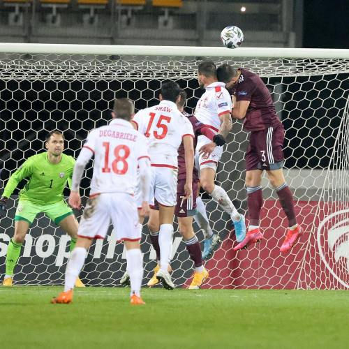 Malta wins against Latvia in UEFA Nations League