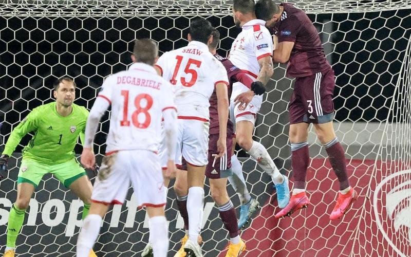 Malta wins against Latvia in UEFA Nations League
