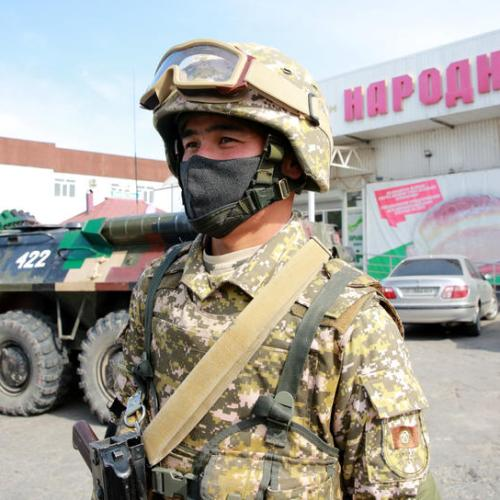 The military ordered on the streets of Kyrgyzstan