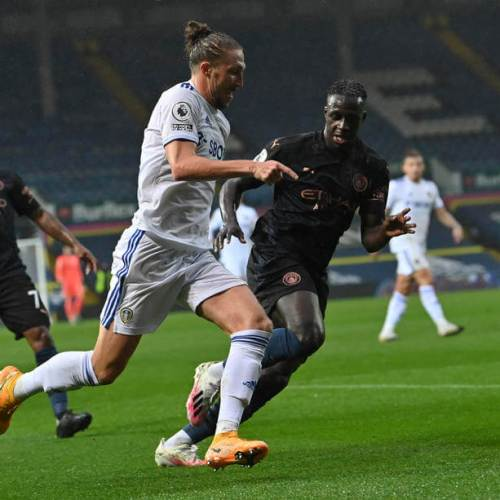 Leeds and Manchester City end their match in a 1-1 draw