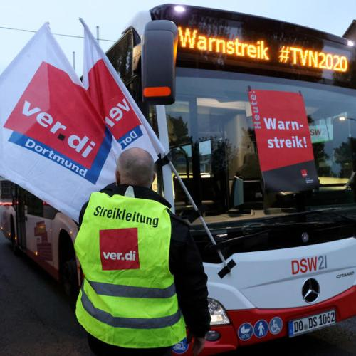 Photo Story: Nationwide union warning strikes for public transport services in Germany