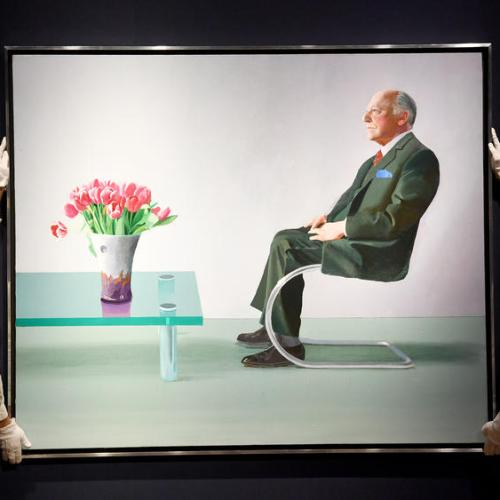 Photo Story: London's Royal Opera House sells David Hockney portrait to raise funds